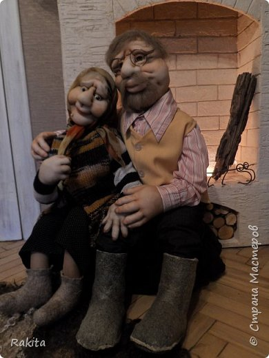 Здравствуйте жители СМ!!! Заказали мне двух кукол, деда и бабушку.Сделались быстро на одном дыхании, хоть и достаточно большие, высота  1 метр. фото 6