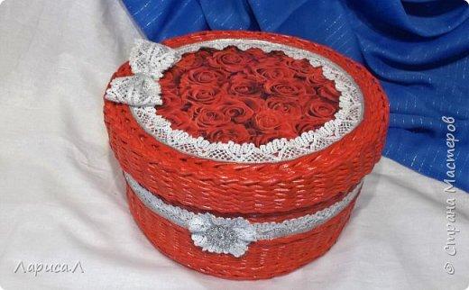 Корзинка для хлеба. Плетение из бумажной лозы. Диаметр 21,5 см, высота 5,5 см. фото 3