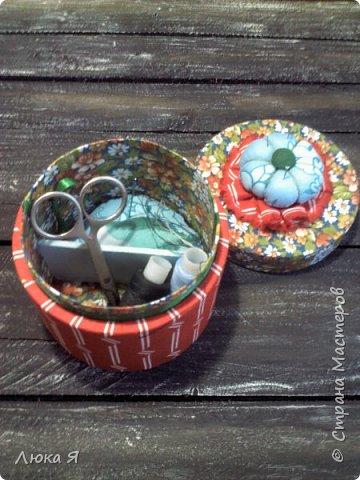 На подарки к праздникам изготовила шкатулки-игольницы фото 6