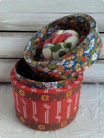 На подарки к праздникам изготовила шкатулки-игольницы фото 9