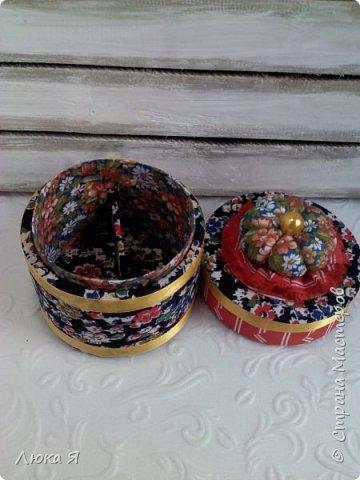 На подарки к праздникам изготовила шкатулки-игольницы фото 17