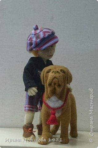 Мальчик с собакой  фото 2