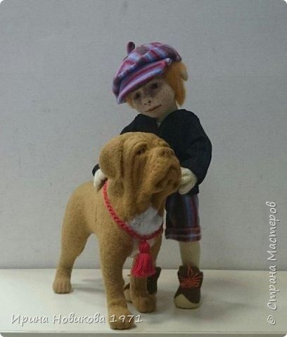 Мальчик с собакой  фото 1