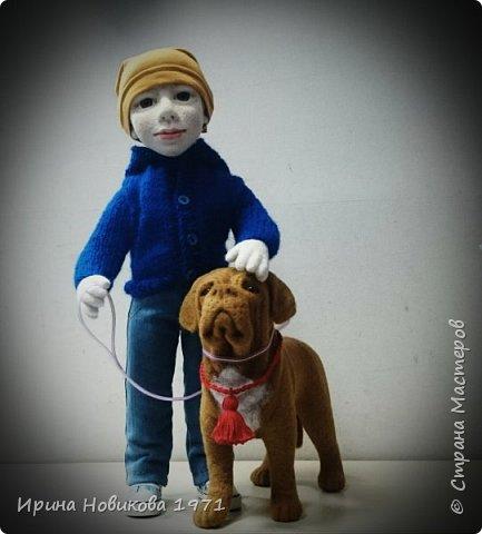 Мальчик с собакой  фото 3