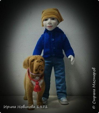 Мальчик с собакой  фото 4