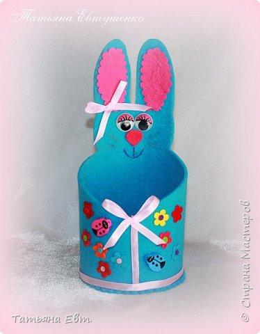 А у меня сегодня, придуманный спонтанно, пасхальный зайчик-корзинка для подарков, сделан мною буквально за пол часа! Всё, что нужно, это фетр,ножницы, клей и ваша фантазия! Делюсь своей выкройкой и небольшим МК! фото 1