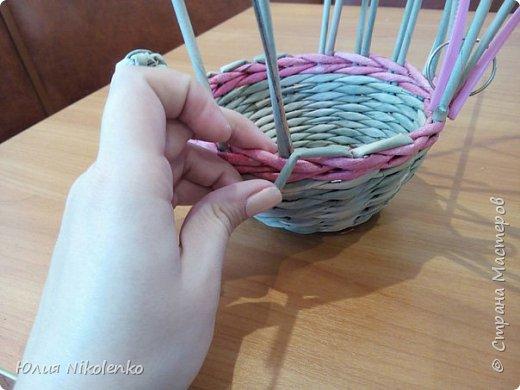 Здравствуйте жители Страны мастеров. Сегодня я решила показать вам как я плету Пасхального зайчика. фото 11