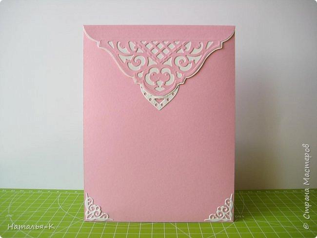 Добрый вечер, (или ночь),  дорогие жители Страны Мастеров!!! Сегодня у меня открытка на свадьбу. Обратились за два дня до свадьбы... была в растерянности... успею ли...   Посмотрела свои альбомы с работами, и нашла что эта подойдёт для свадьбы.  Такую уже делала для дочки на день рождения.   http://stranamasterov.ru/node/992229 фото 2