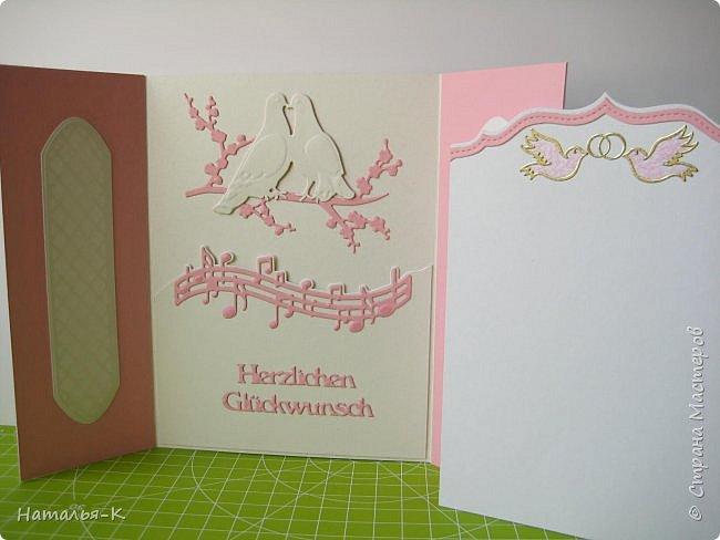 Добрый вечер, (или ночь),  дорогие жители Страны Мастеров!!! Сегодня у меня открытка на свадьбу. Обратились за два дня до свадьбы... была в растерянности... успею ли...   Посмотрела свои альбомы с работами, и нашла что эта подойдёт для свадьбы.  Такую уже делала для дочки на день рождения.   http://stranamasterov.ru/node/992229 фото 6