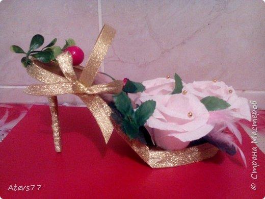 Туфелька из конфет фото 2