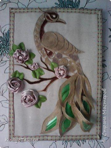 не сказать что райская, но птица (из джута) фото 2