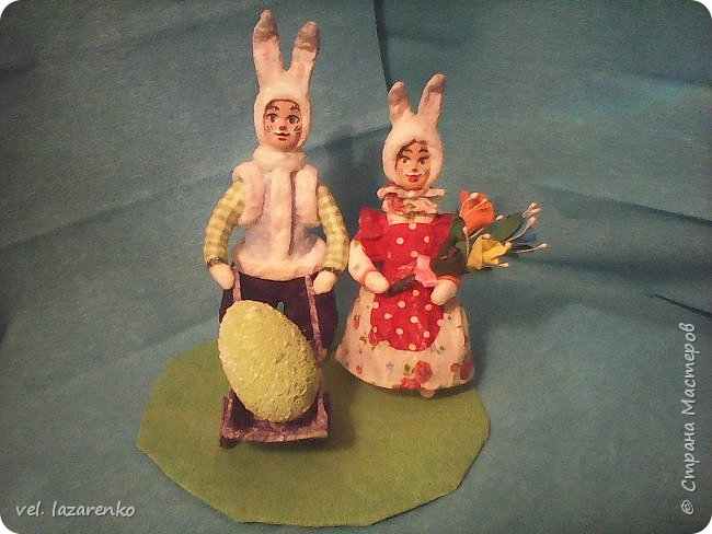 Кролики сделанные по МК Елены Васько. фото 1