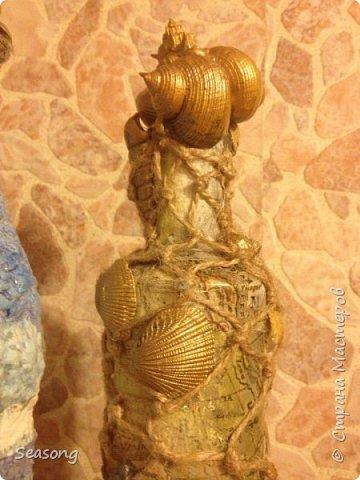 Снова морская тема. Две бутылочки - сестрички. Эх....на море бы махнуть :) фото 4