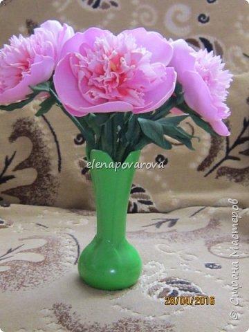 """Добрый день!  На просторах интернета находила чудесные букетики с цветами из фоамирана,но """"руки как то не доходили"""" их сделать. Наступила зима и встал вопрос чем же заняться долгими вечерами,тут то я и решилась на эти цветы  фото 1"""