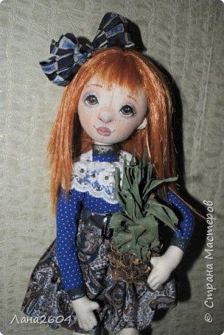 Это Танюшка.Текстильная кукла. Ростик 35 см. фото 3