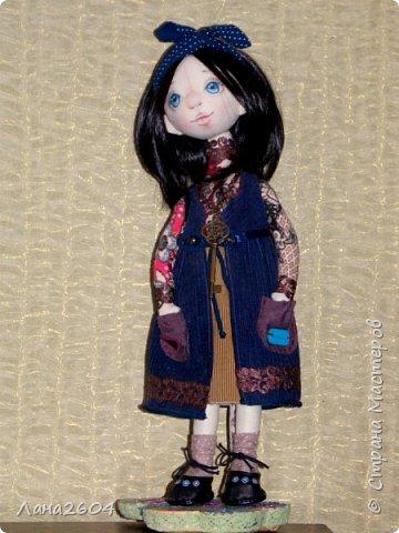 Это Танюшка.Текстильная кукла. Ростик 35 см. фото 2