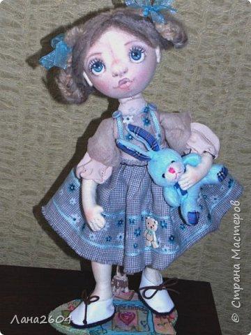 Это Танюшка.Текстильная кукла. Ростик 35 см. фото 1