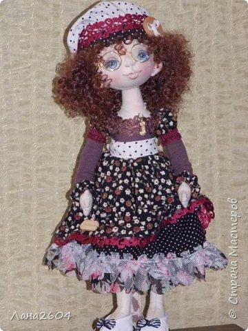 Это Танюшка.Текстильная кукла. Ростик 35 см. фото 5
