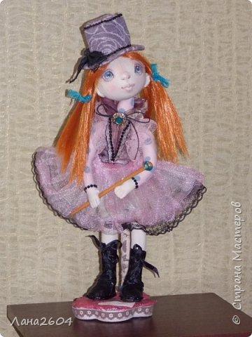 Это Танюшка.Текстильная кукла. Ростик 35 см. фото 4