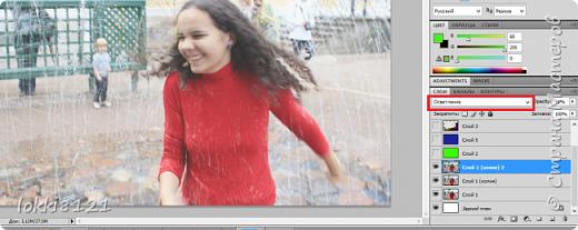 Добрый день! Сейчас появилось очень много приложений, которые автоматически ставят фильтры на фотографии, тем самым придавая ей настроение, подчеркивая тени или интересные детали.   Преимущество этих приложений в том, что они супер удобны и не так уж обязательно быть профессионалом, понимать что конкретно происходит с твоей фотографией: осветление, наложение градиента, зернистости и т.д. Просто меняй настройки и будь счастлив!   Но если вам самим интересно освоить эти приемы обработки и азы компьютерной графики, советую все же установить себе любой графический редактор и осваивать его. Один из популярных, конечно Photoshop. А далее - только практика, практика, практика. В Интернете множество уроков, просто делайте все по шагам и у вас обязательно раз от раза будет получаться лучше и лучше!   Это небольшая лирика, а здесь я вам просто хотела показать один из приемов обработки фотографии (здесь не ретушь, а больше игра с цветом и текстурами). Постараюсь писать подробно и немножко объяснять, давать какие-то советы. Я совсем не профессионал, просто в школе захотела освоить Photoshop и часами просиживала за программой. Так что это просто мои советы.   Итак, такой нежный эффект очень хорош для светлых фотографий, где показаны какие то положительные эмоции - наслаждаетесь солнышком, хорошим днем. Также хорошо подойдет для портретных фото.   Для примера мое фото из Петергофа.  фото 3