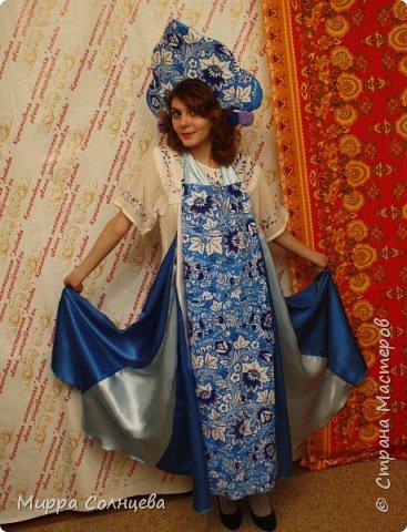 наборы Русский стиль  ( сарафан-фартук, кокошник) фото 4