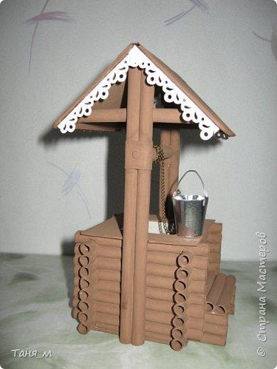 Дом сделан из бумажных трубочек. Размер домика вместе с крылечком 30 на 17. Включается свет выключателем. фото 7