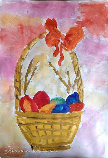 Всем, здравствуйте!!!!  От всей души поздравляю с наступающим Светлым Христовым Воскресением и предлагаю вашему вниманию работы детей, которые мы посвятили этому замечательному празднику. фото 2