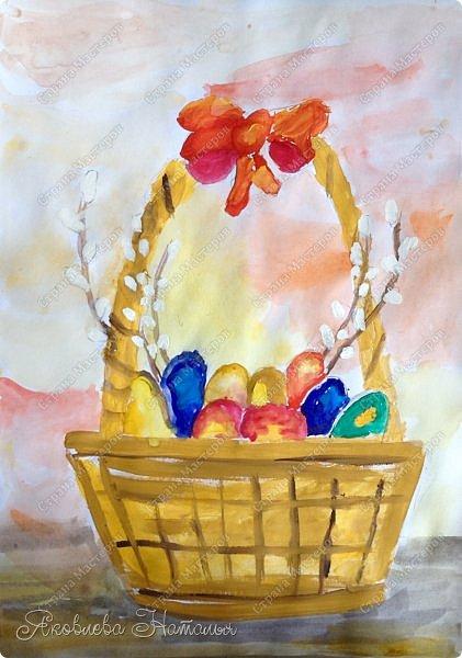 Всем, здравствуйте!!!!  От всей души поздравляю с наступающим Светлым Христовым Воскресением и предлагаю вашему вниманию работы детей, которые мы посвятили этому замечательному празднику. фото 3