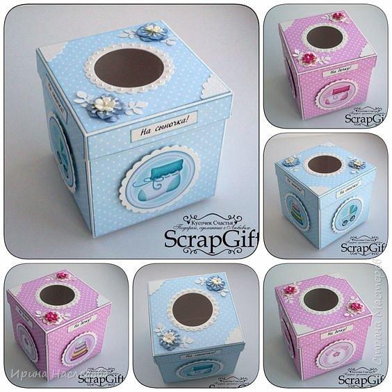 """Свадебные аксессуары: коробочки - """"На дочку!"""" и """"На сыночка!"""" Размер коробочек 12 х 12 см. фото 1"""