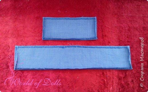 Небольшой мастер класс для кукольников, особенно подойдет начинающим. Наглядно показывает как легко можно пошить обычное платьице для куклы любого формата. Для этого нам понадобится: 1. ткань 2. нитки 3. ножницы 4. игла или швейная машина 5. липучка ..и желание :)) фото 4