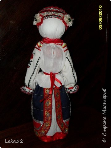 """Добрый день всем! Предлагаю Вашему вниманию две куклы-закрутки в так называемых """"межевых"""" костюмах. Этот костюмный комплекс существует на пограничных территориях Брянской и Калужской области.  фото 2"""