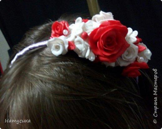 Делала на подарок для девочки ободок. Цветы сделаны из полимерной глины фото 3