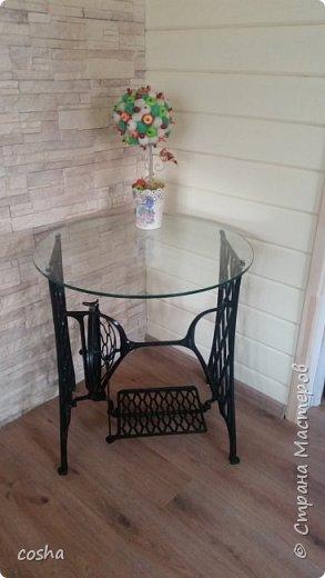 столик из старой швейной машинки фото 2