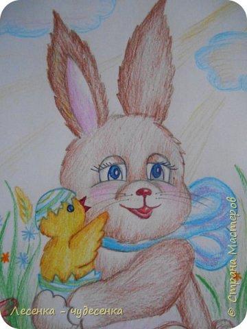"""Всем привет ! Я сдаю работу на конкурс """" Светлая Пасха """".(2 номинация :"""" Пасхальный кролик """"). фото 2"""