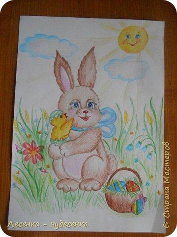 """Всем привет ! Я сдаю работу на конкурс """" Светлая Пасха """".(2 номинация :"""" Пасхальный кролик """"). фото 3"""