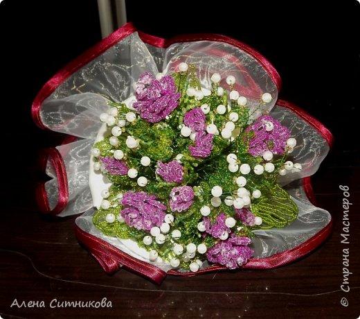 Букет для невесты из бисера и бусин фото 2