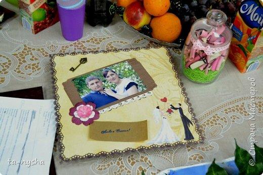Открытка ручной работы и баночка с пожеланиями, в которую вложены деньги. фото 2