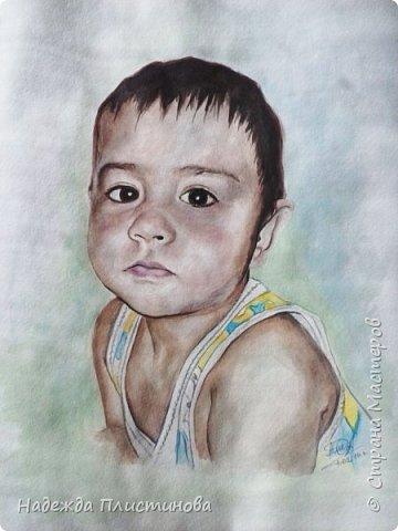 Портрет племянника для братишки. Акварель. Формат А3 фото 1