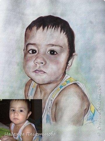 Портрет племянника для братишки. Акварель. Формат А3 фото 3