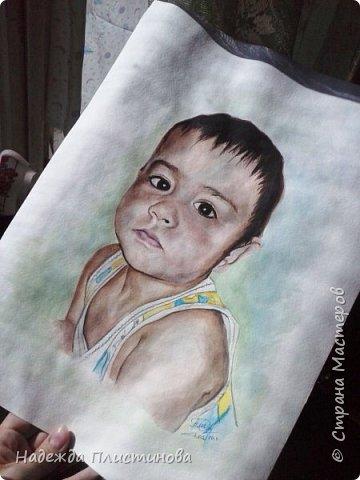 Портрет племянника для братишки. Акварель. Формат А3 фото 4