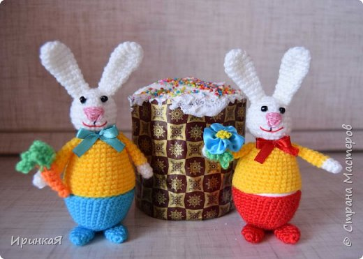 Вот такие зайчики радовали нас в праздник Пасхи фото 1