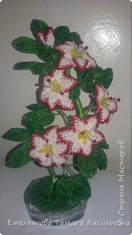 Фантазийный цветок из бисера фото 1