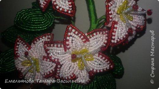 Фантазийный цветок из бисера фото 4