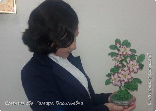 Фантазийный цветок из бисера фото 6