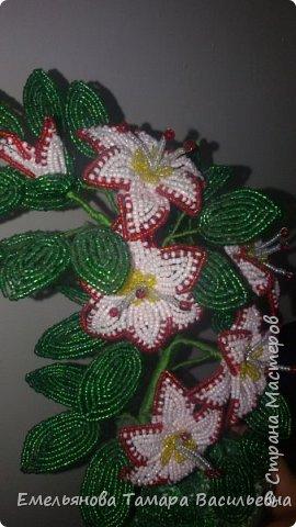 Фантазийный цветок из бисера фото 11
