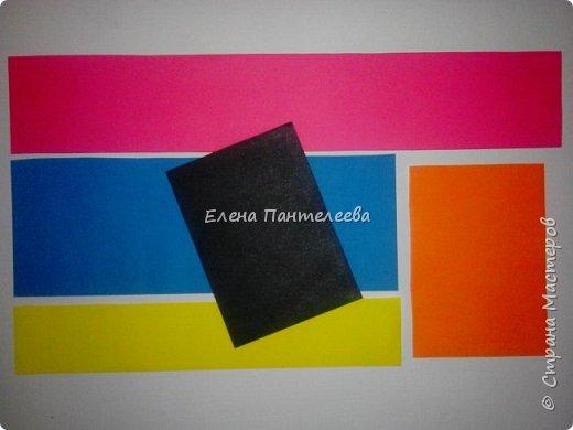 Предлагаю сделать аппликацию из фигурок оригами, гармонистов, с элементами рисования. фото 4