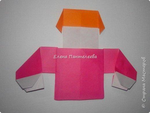 Предлагаю сделать аппликацию из фигурок оригами, гармонистов, с элементами рисования. фото 31
