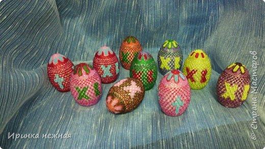 Яйца пасхальные(внутри гипс)