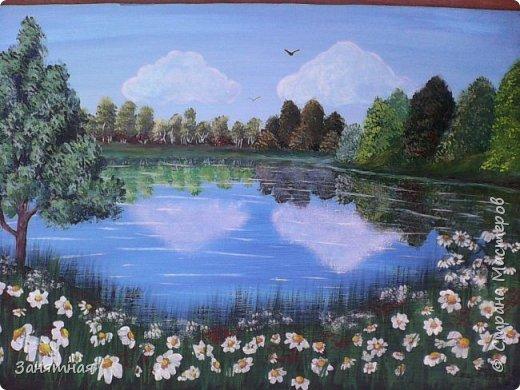 Добрый вечер моя страна. Я к Вам с новыми картинами. Размер картины 20 на 30см. Тюльпаны на фоне гор, мк Даши Краевой. фото 9