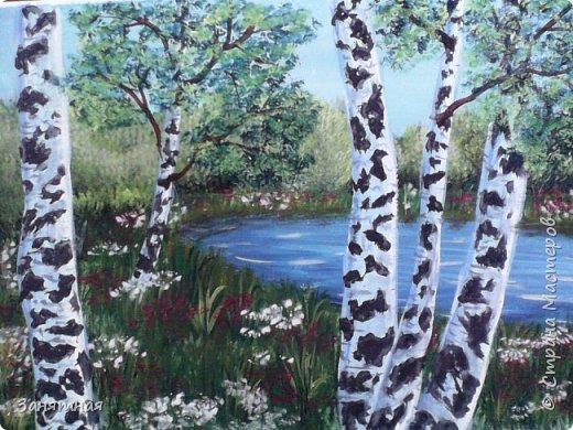Добрый вечер моя страна. Я к Вам с новыми картинами. Размер картины 20 на 30см. Тюльпаны на фоне гор, мк Даши Краевой. фото 10